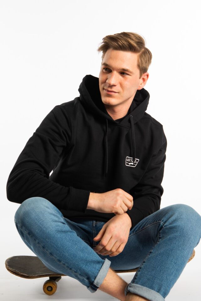 FULL PATCHED HOODIE BLK BLACK