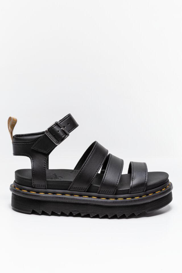 SANDAŁY Chunky 3 Strap Sandal BLACK