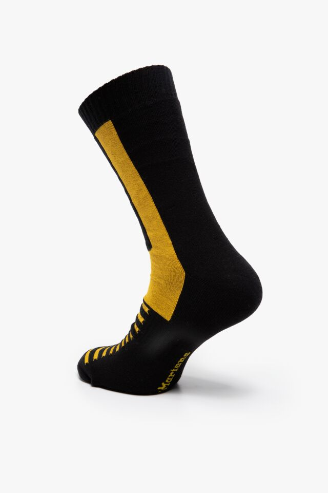 DMAC742017 DOUBLE DOC SOCKS Black Yellow