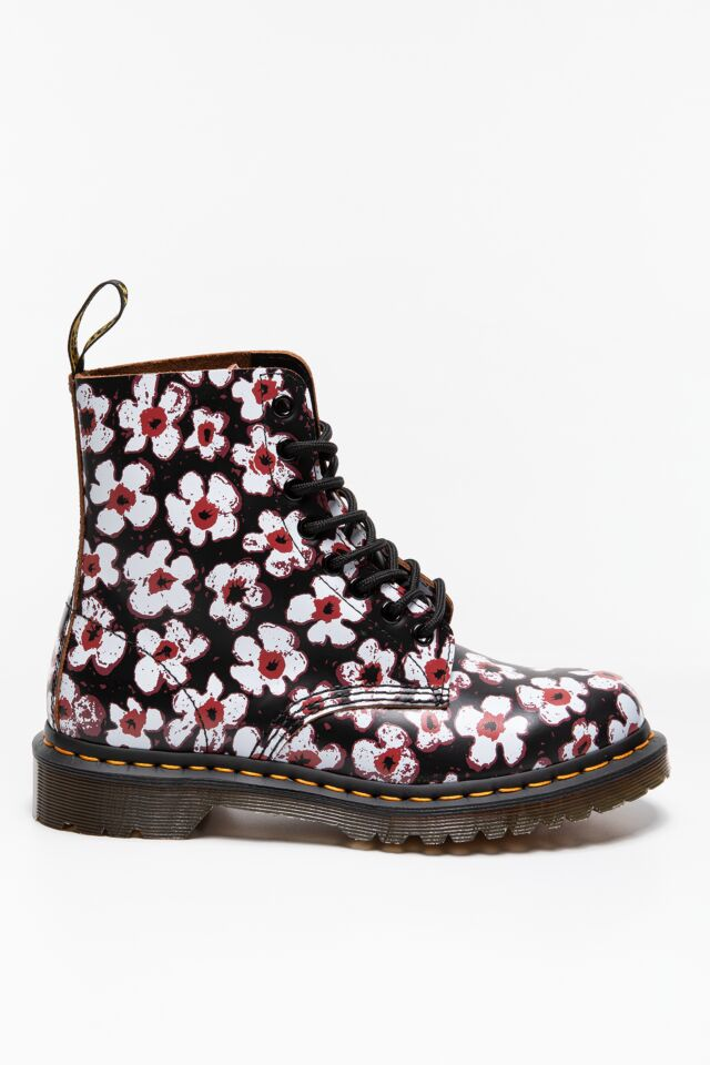 MARTENSY 1460 PASCAL PANSY FAYRE BLACK RED DM26456002