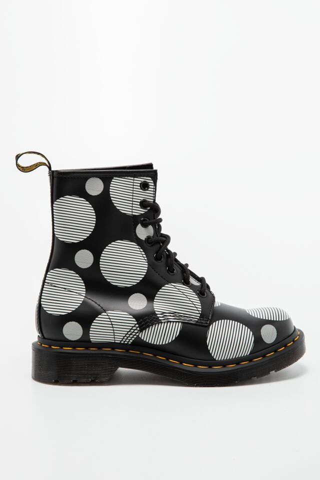 POLKA DOT SMOOTH LEATHER BOOTS 1460 DM26876009