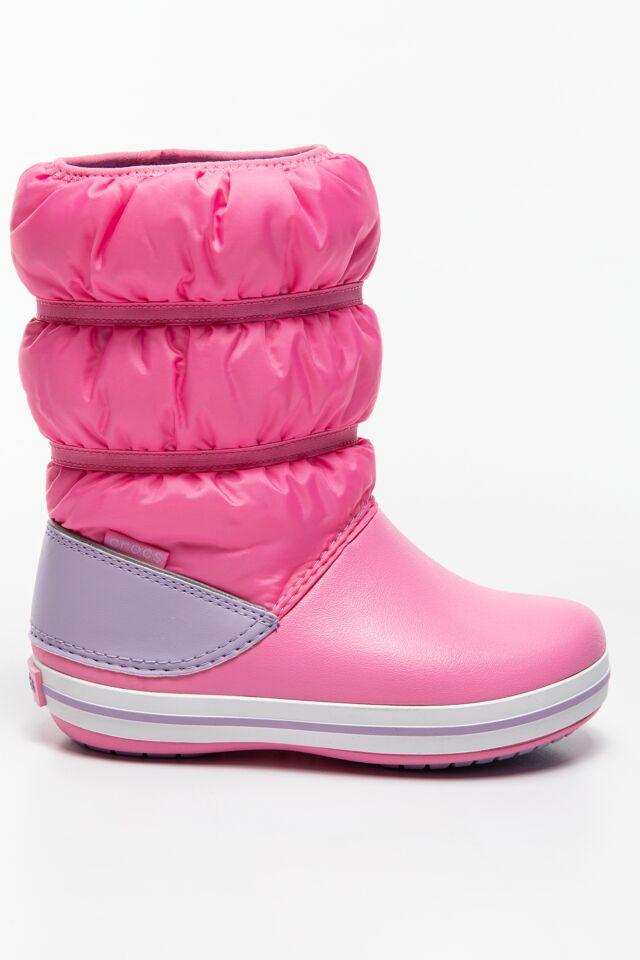 CROCBAND WINTER BOOT KIDS 206550  206550-6QM PINK LEMONADE/LAVENDER