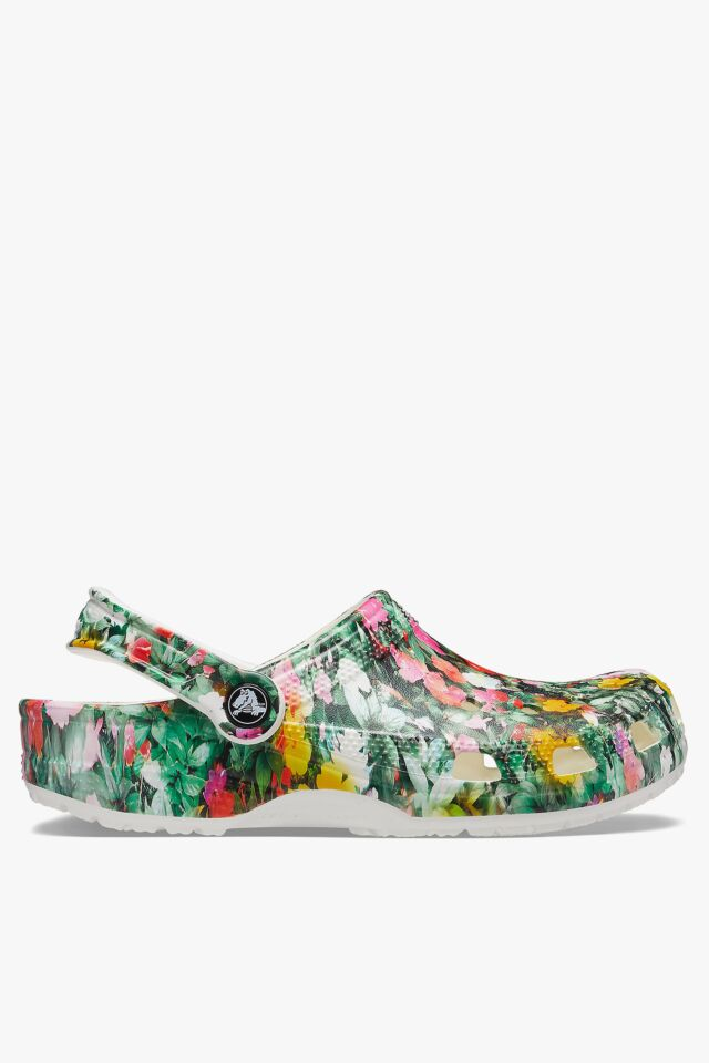 CLASSIC PRINTED FLORAL CLOG WHITE/MULTI 206376-94S