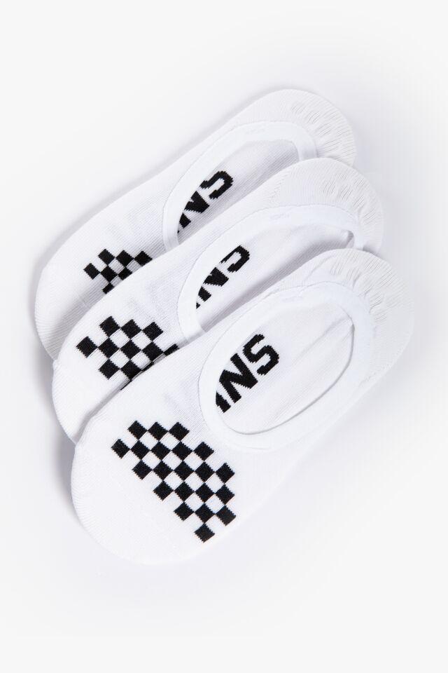 ZESTAW 3 SZT. STOPKI/SKARPETKI WM CLASSIC CANOODLE White/Black VN0A48HCYB21