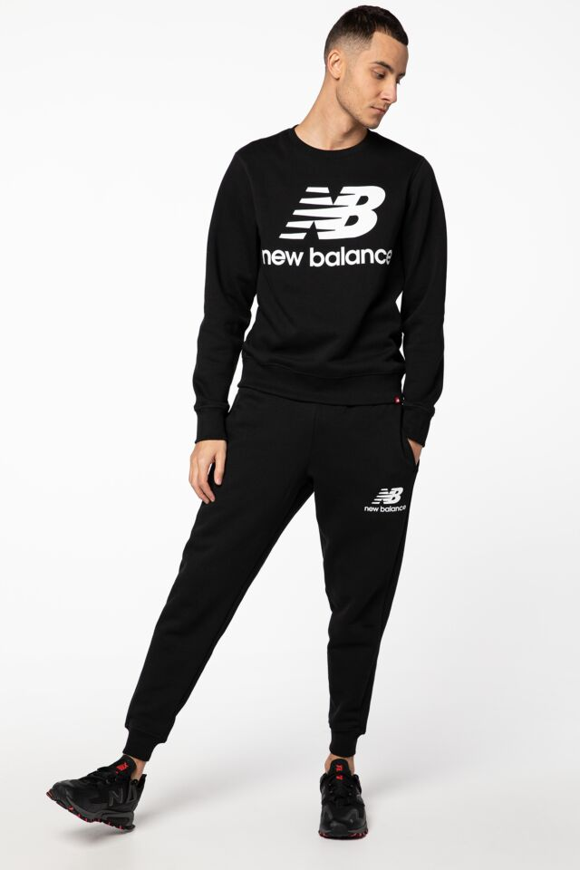 ESSENTIALS STACKED LOGO SWEATPANT NBMP03558-BK
