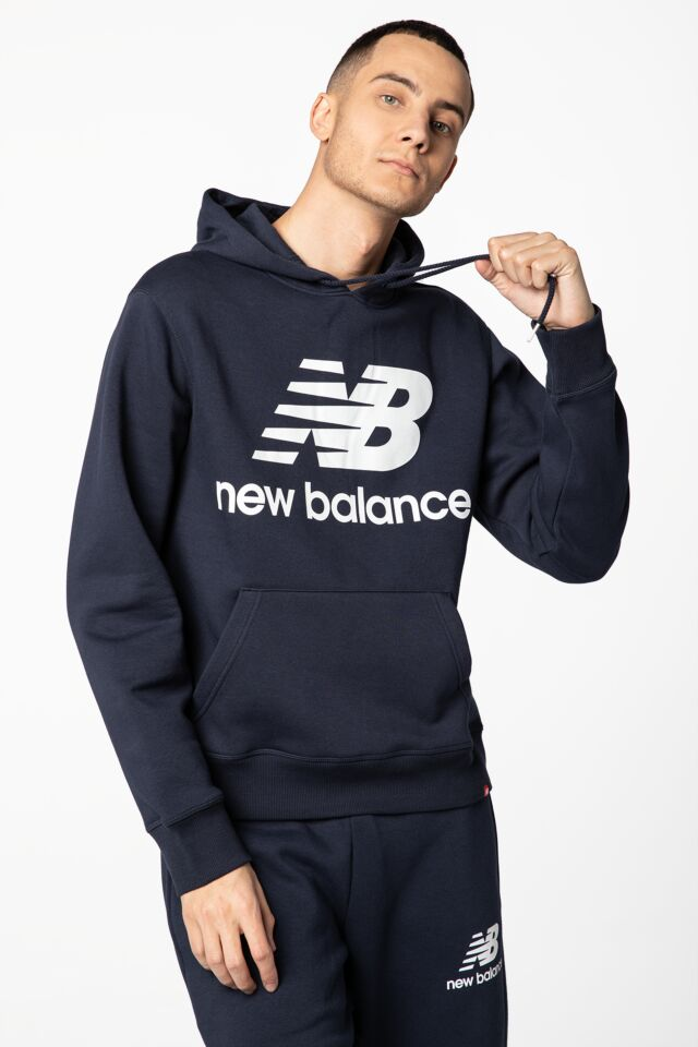 ESSENTIALS STACKED LOGO PO HOODIE NBMT03578ECL NAVY