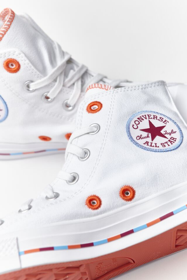 CHUCK TAYLOR ALL STAR HI 718 WHITE/ROSE MAROON
