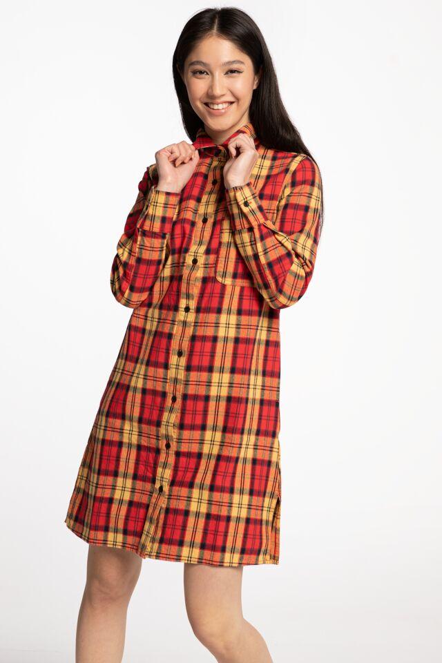 NEW IBERIA DRESS DK0A4X6GFR01 FIERY RED