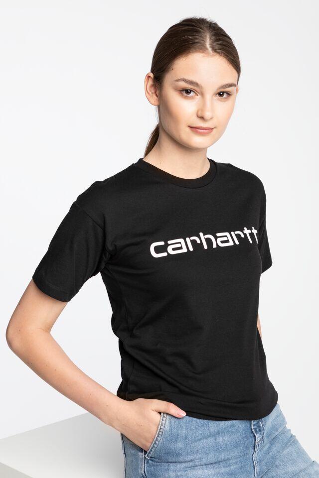 W' S/S Script T-Shirt I028442-8990 BLACK/WHITE