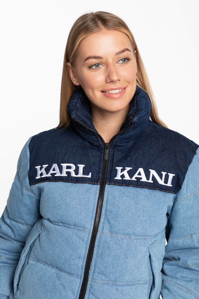 KK Retro Block Denim Puffer Jacket blue 6176247