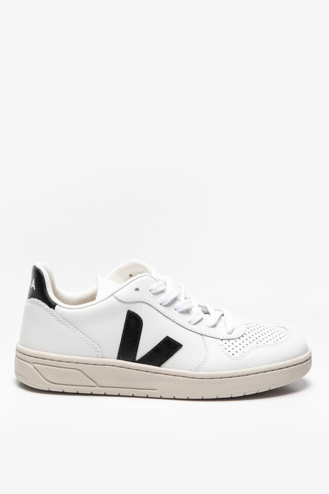 SNEKAERY V-10 LEATHER EXTRA-WHITE_BLACK VX020005A