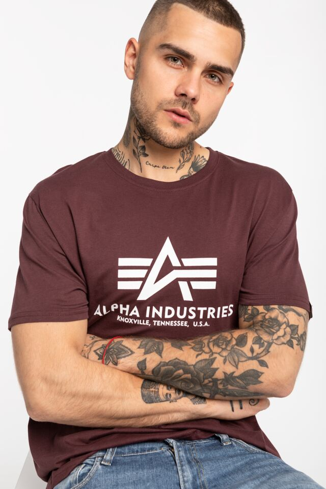 Basic T-Shirt 100501-21 DEEP MAROON