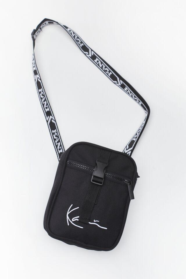 SIGNATURE TAPE MESSENGER BAG 484 BLACK/WHITE