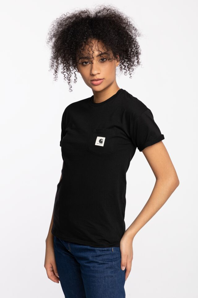 W' S/S CARRIE POCKET T-SHIRT 8991 BLACK