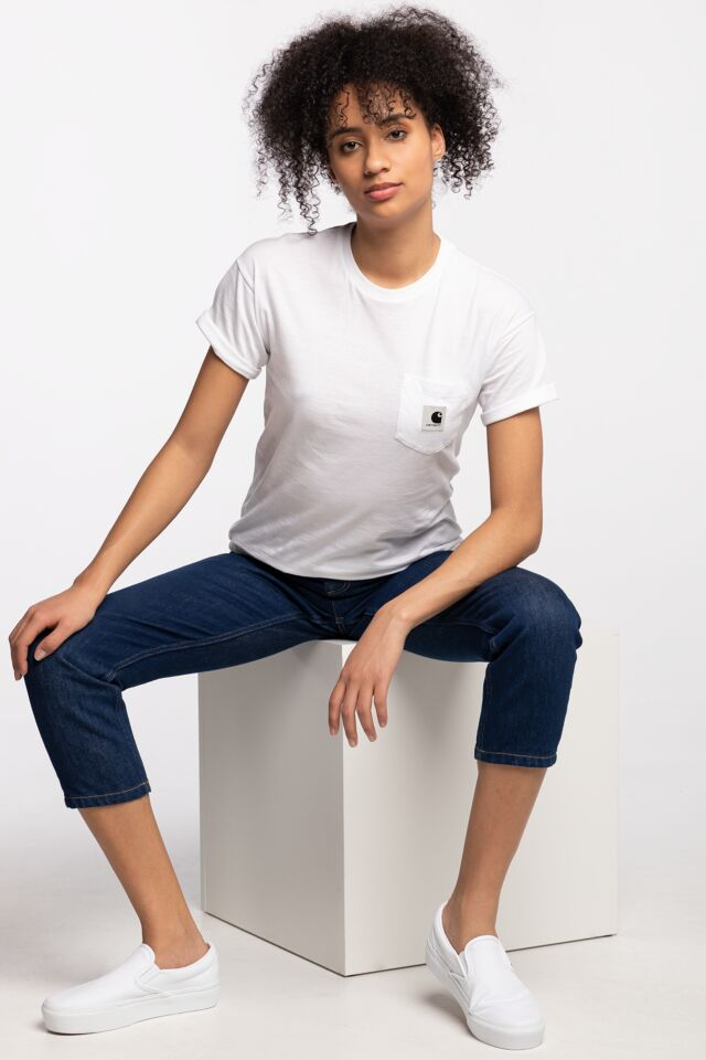 W' S/S CARRIE POCKET T-SHIRT 0291 WHITE