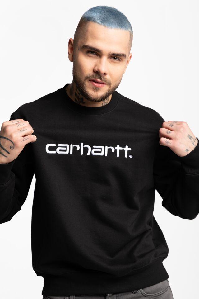 CARHARTT SWEATSHIRT 8990 BLACK/WHITE