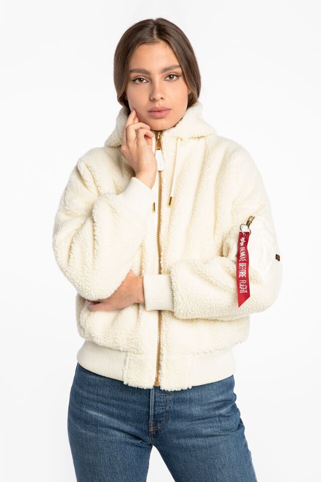 MA-1 OS Hooded Teddy Wmn 118002-16