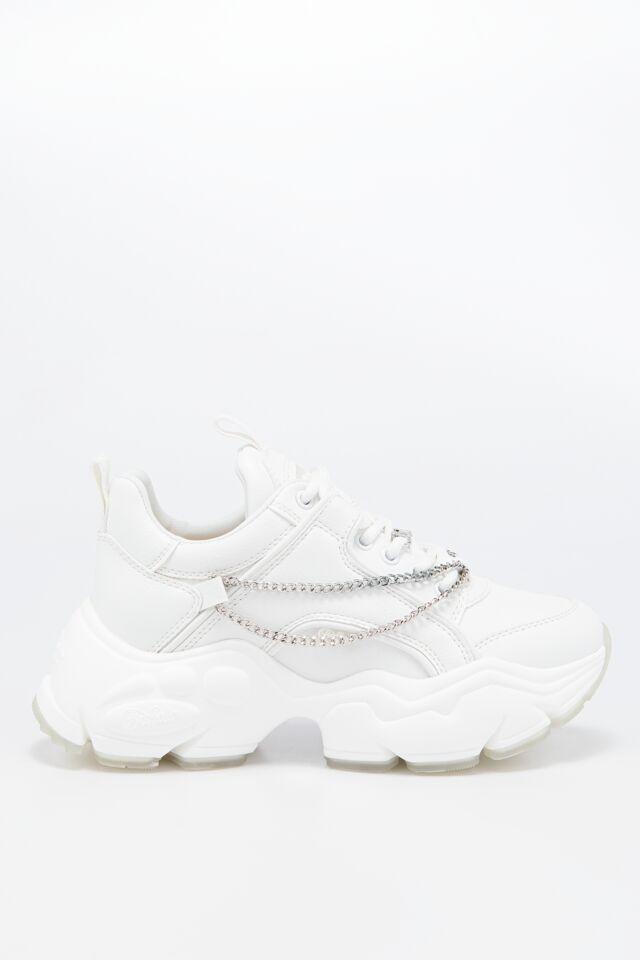 SNEAKERY 1630540-WHITE/SILVER CHAIN