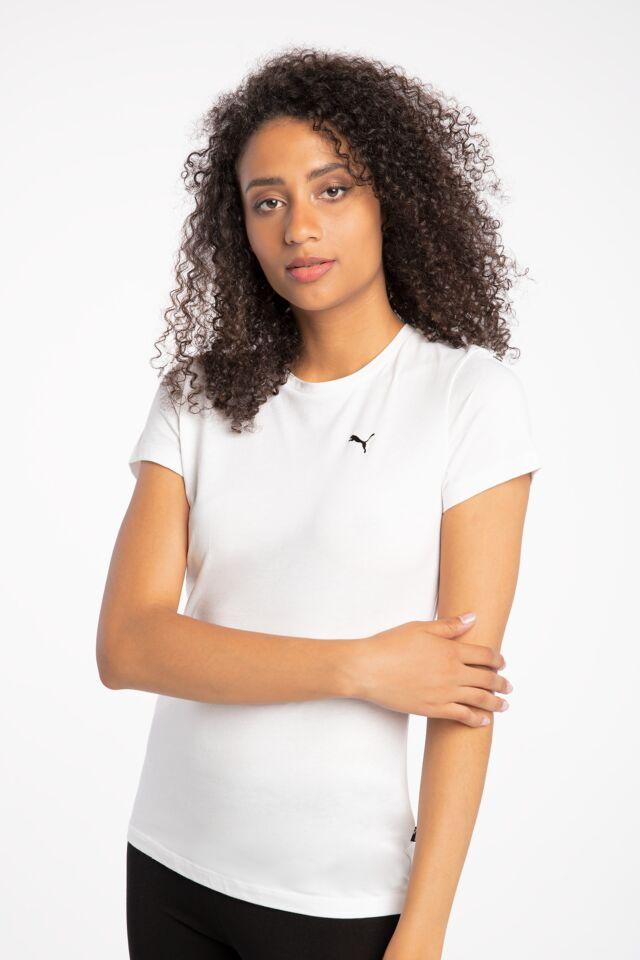Z KRÓTKIM RĘKAWEM ESS Small Logo Tee White-CAT 58677652