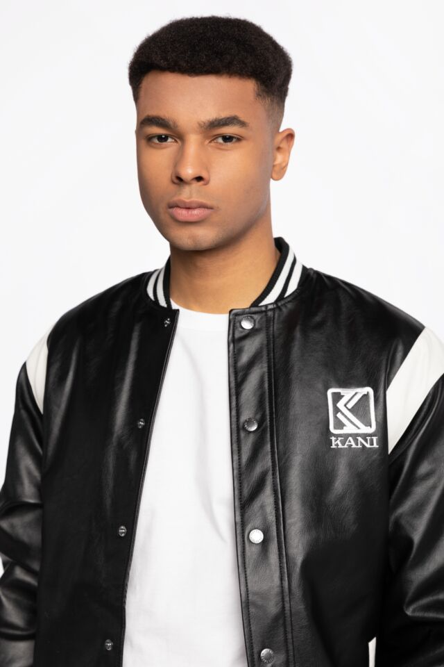 KK OG Fake Leather Jacket black 6075089