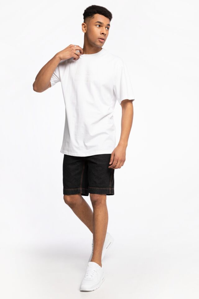 KRÓTKIE  JEANSOWE KK OG Rinse Denim Shorts black 6010125