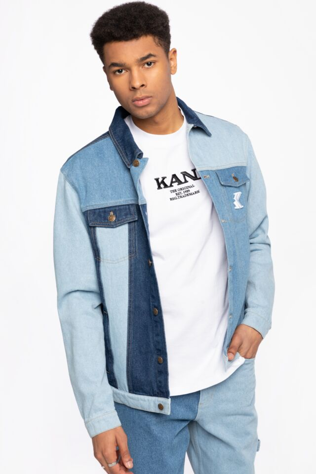 JEANSOWA KK OG Rinse Block Denim Trucker Jacket blue 6087093