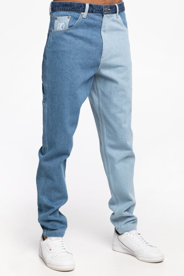 JEANSOWE KK OG Rinse Block Denim Pants blue 6000765