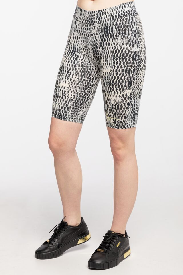 KRÓTKIE / KOLARZÓWKI KK Small Signature Snake Cycling Short white/black 6113509