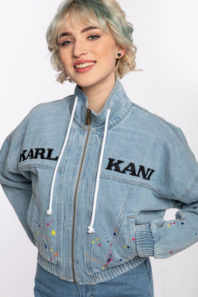 KK OG Denim Paint Splatter Jacket light blue 6187064