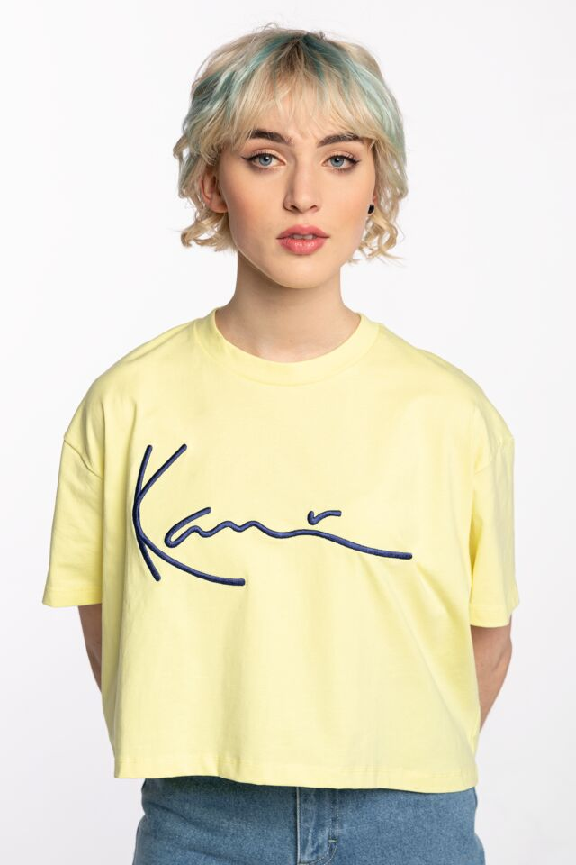 Z KRÓTKIM RĘKAWEM KK Signature Tee lime 6138993