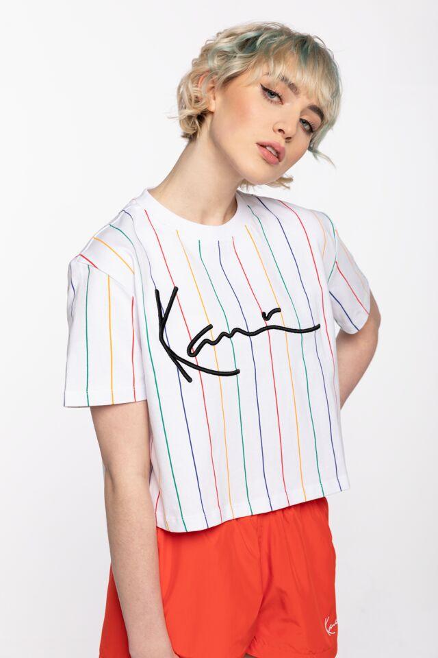 KK Signature Pinstripe Tee white 6138995