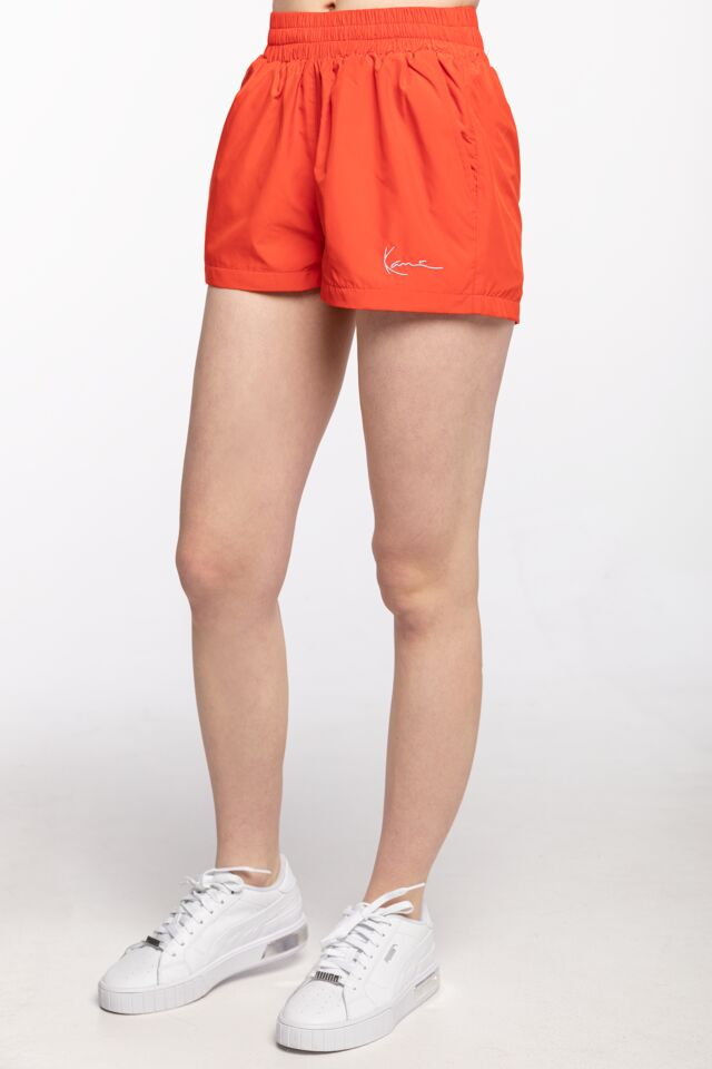 KRÓTKIE  KK Small Signature Trackshorts red 6113512