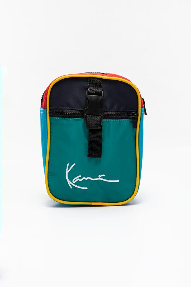 TORBA/ KK Signature Block Messenger Bag green 4002572