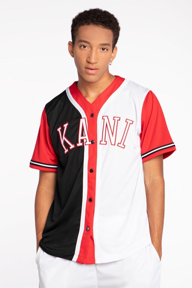 Z KRÓTKIM RĘKAWEM College Block Baseball Shirt black 6035460