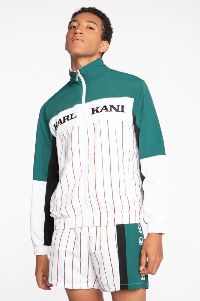 KK Retro Block Pinstripe Trackjacket white/green/black 6027228