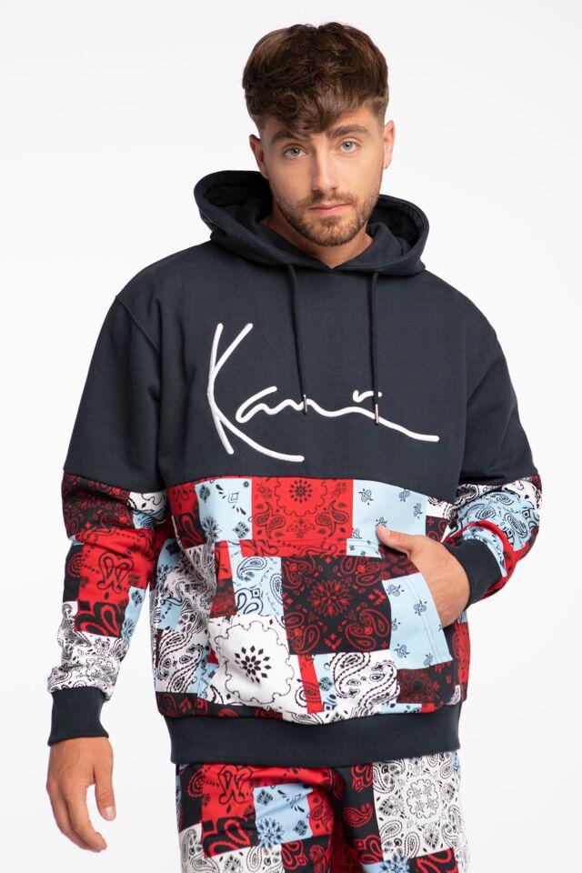 KK Signature Block Paisley Hoodie navy/red/light blue 6093517