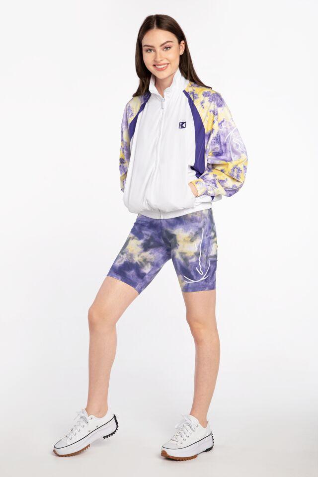 KK Signature Tie Dye Cycling Short lilac/yellow 6113605