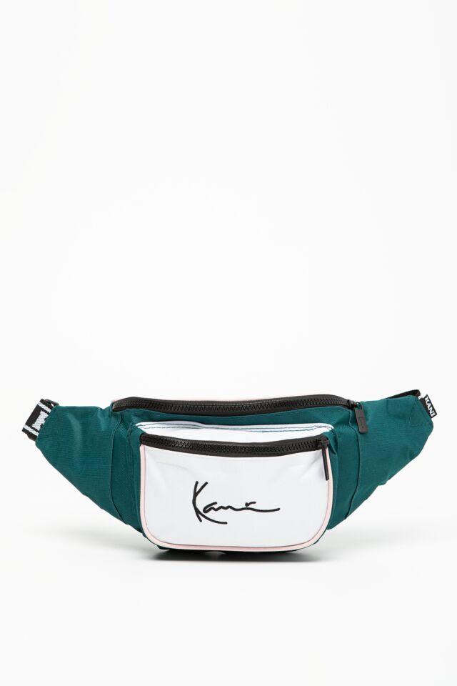 KK Signature Tape Waist Bag green/white 4104161
