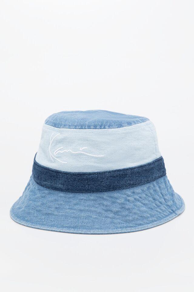CZAPKA KK Signature Block Denim Bucket Hat blue 7115093