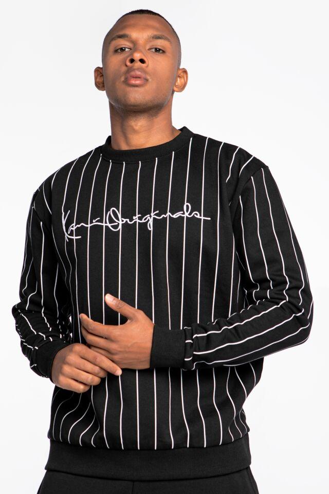 Originals Pinstripe Crew black/white 6020305
