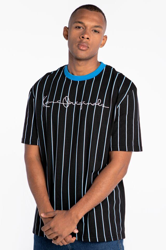 Originals Pinstripe Tee black/blue white 6030934
