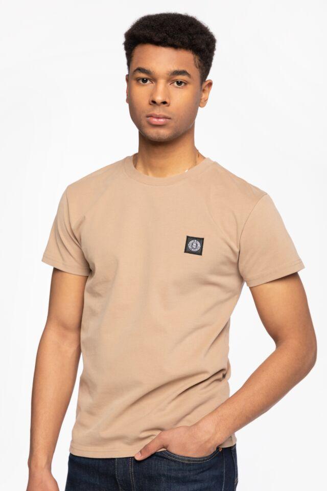 Z KRÓTKIM RĘKAWEM DMWU Patch T-Shirt Khaki Khaki UNFR21-013