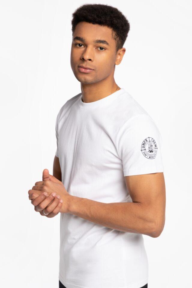 Z KRÓTKIM RĘKAWEM Balaklava T-Shirt White UNFR21-047