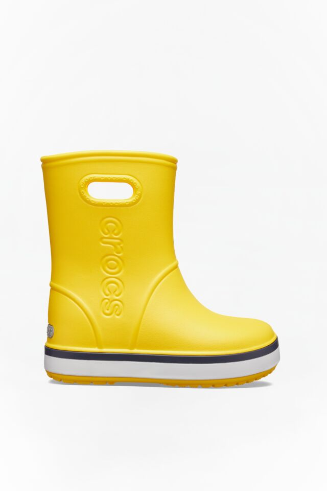 CROCBAND RAIN BOOT KIDS 205827 YELLOW/NAVY