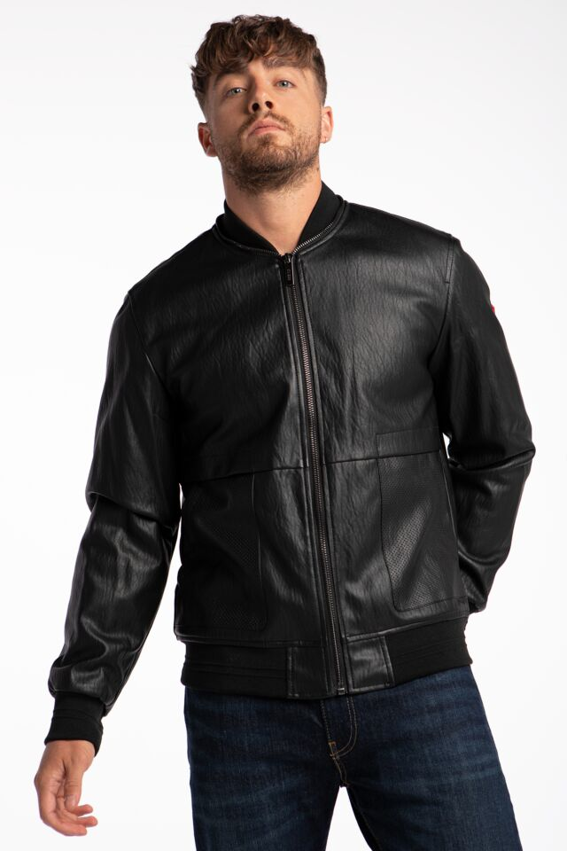 PU LEATHER BOMBER M1YL56WDZN0-JBLK