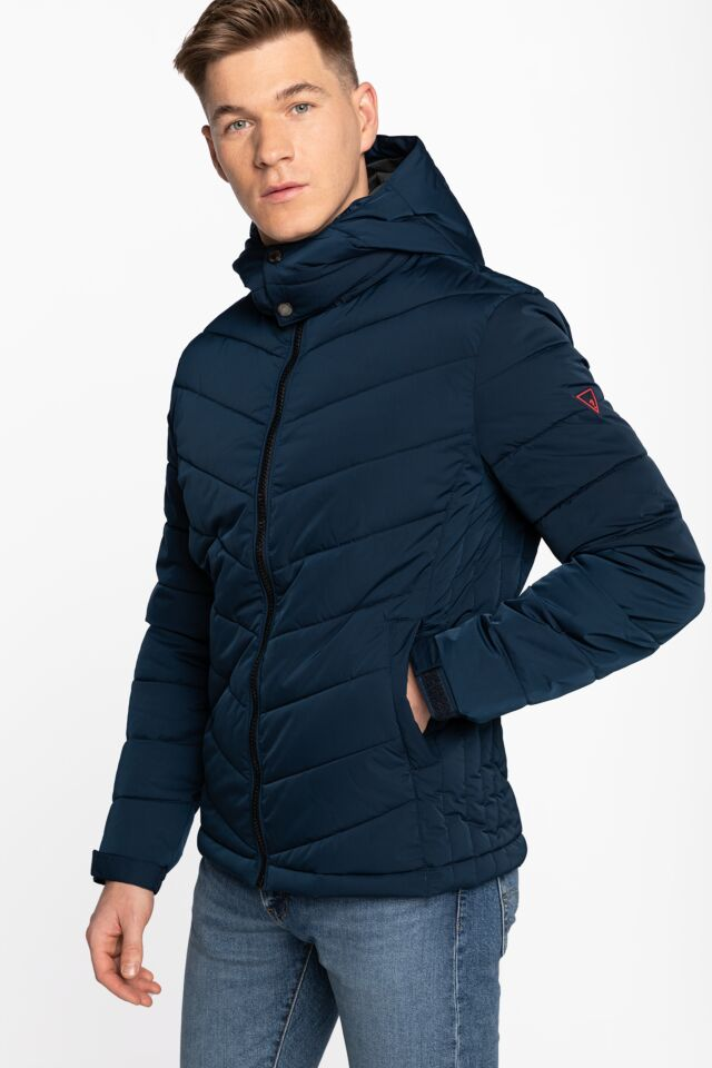 STRETCH PUFFA HOODED JKT M0BL50WD990-G720 NAVY