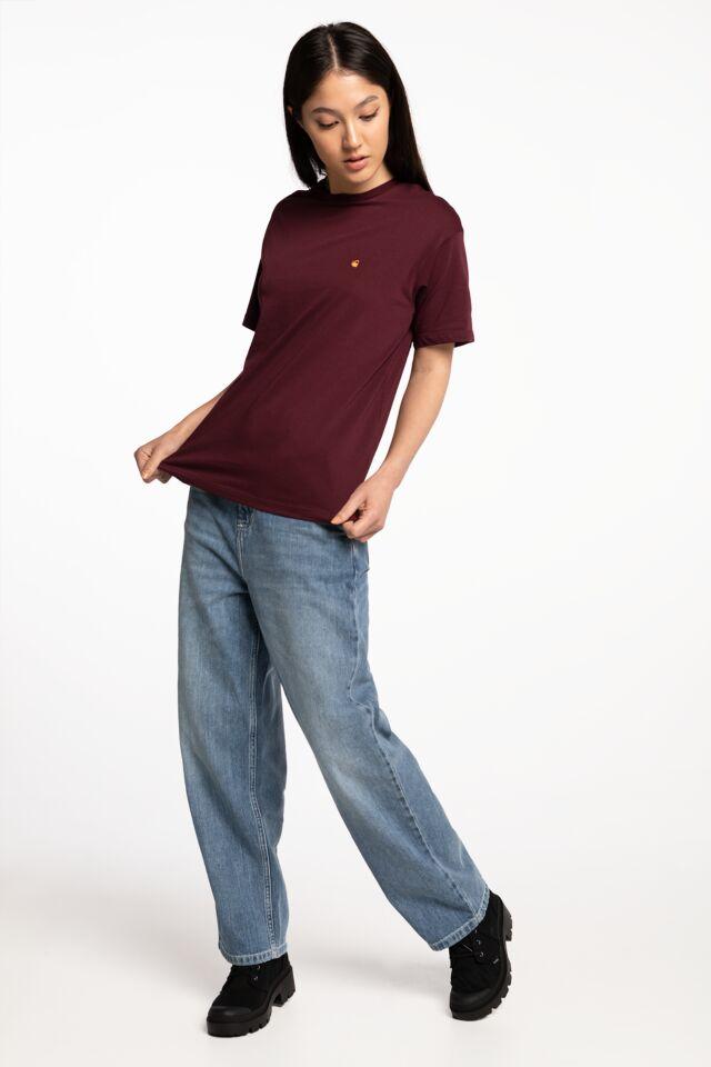 W' S/S Chase T-Shirt I028900-JD90 BURGUNDY