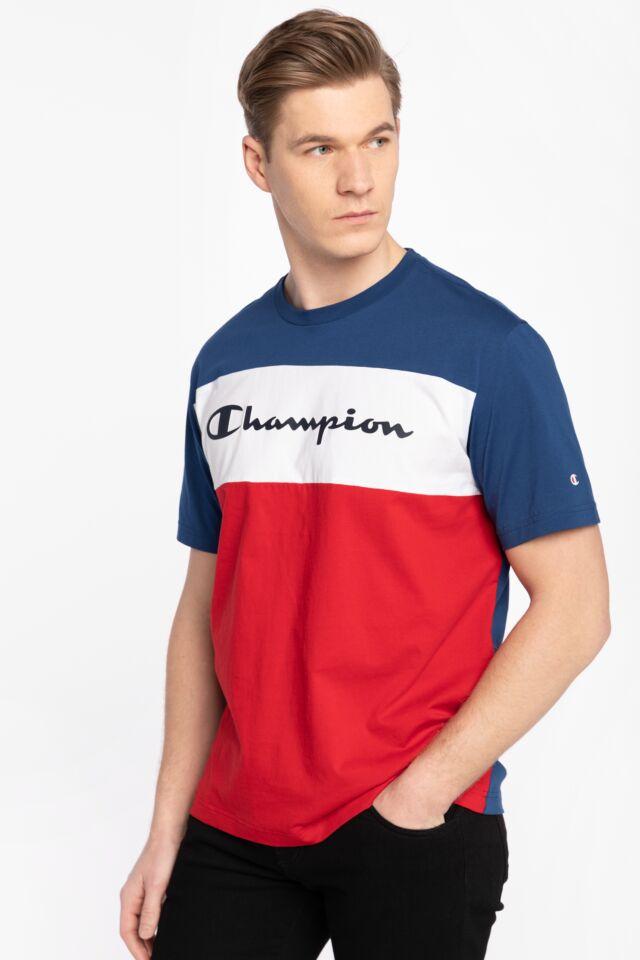 Z KRÓTKIM RĘKAWEM Crewneck T-Shirt 216197-BS510