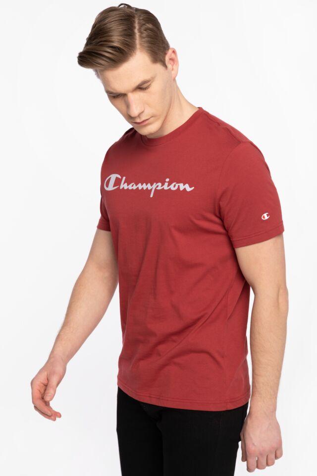 Z KRÓTKIM RĘKAWEM Crewneck T-Shirt 214142-RS518