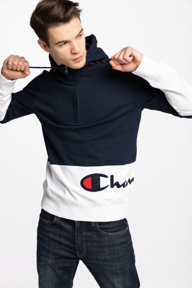 Z KAPTUREM Half Zip Hooded Sweatshirt 214205-BS538